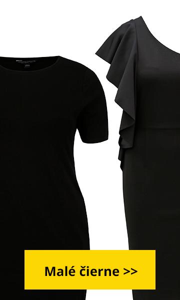 malé čierne šaty pre moletky, spoločenské šaty pre moletky, oblečenie pre moletky zľava