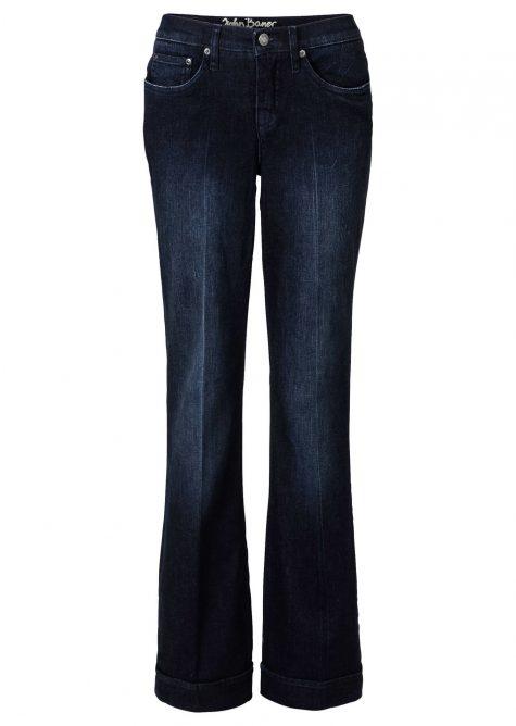 Strečové džínsy FLARED  Strečové nohavice pre moletky - lepšie sa prispôsobia postave.