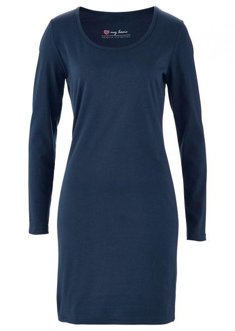 Strečové úpletové šaty s dlhým rukávom