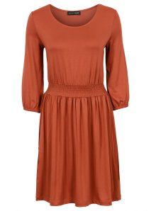 1475c81aff89 Bavlnené oranžové šaty pre plnoštíhle - letné oblečenie pre moletku -  tehlová farba