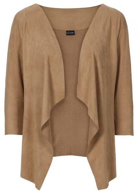 Krátka bunda z velúrovej imitácie