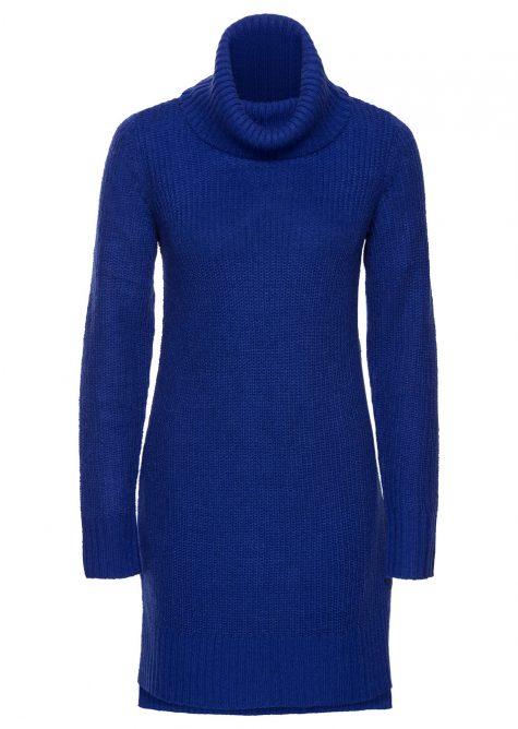 Dlhý pletený pulóver