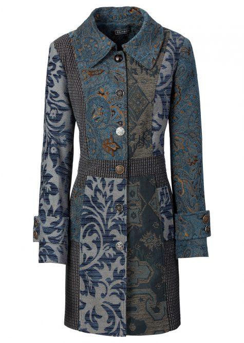 Kabát so žakárovým dizajnom