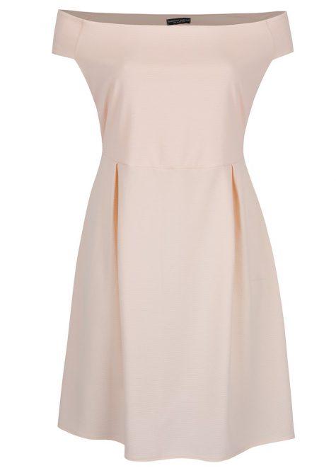 ŽENY | Šaty | spoločenské šaty - Svetloružové šaty s odhalenými ramenami Dorothy Perkins Curve
