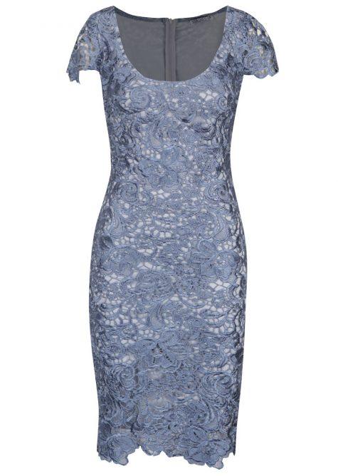 7dd2bf8c3391 Modré čipkované šaty Miss Grey Taisa