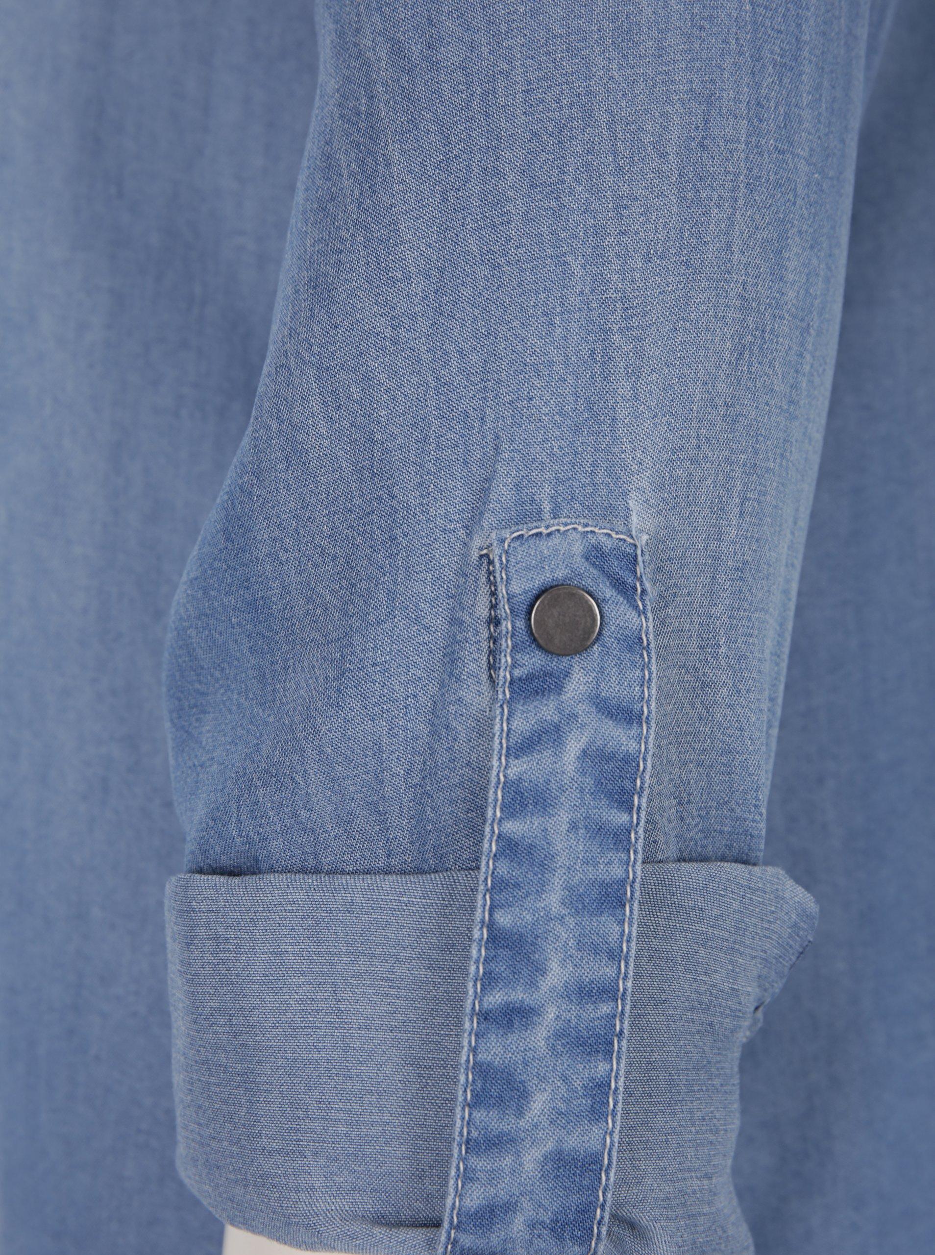 46fafa518034 Svetlomodré rifľové košeľové šaty VERO MODA Silla