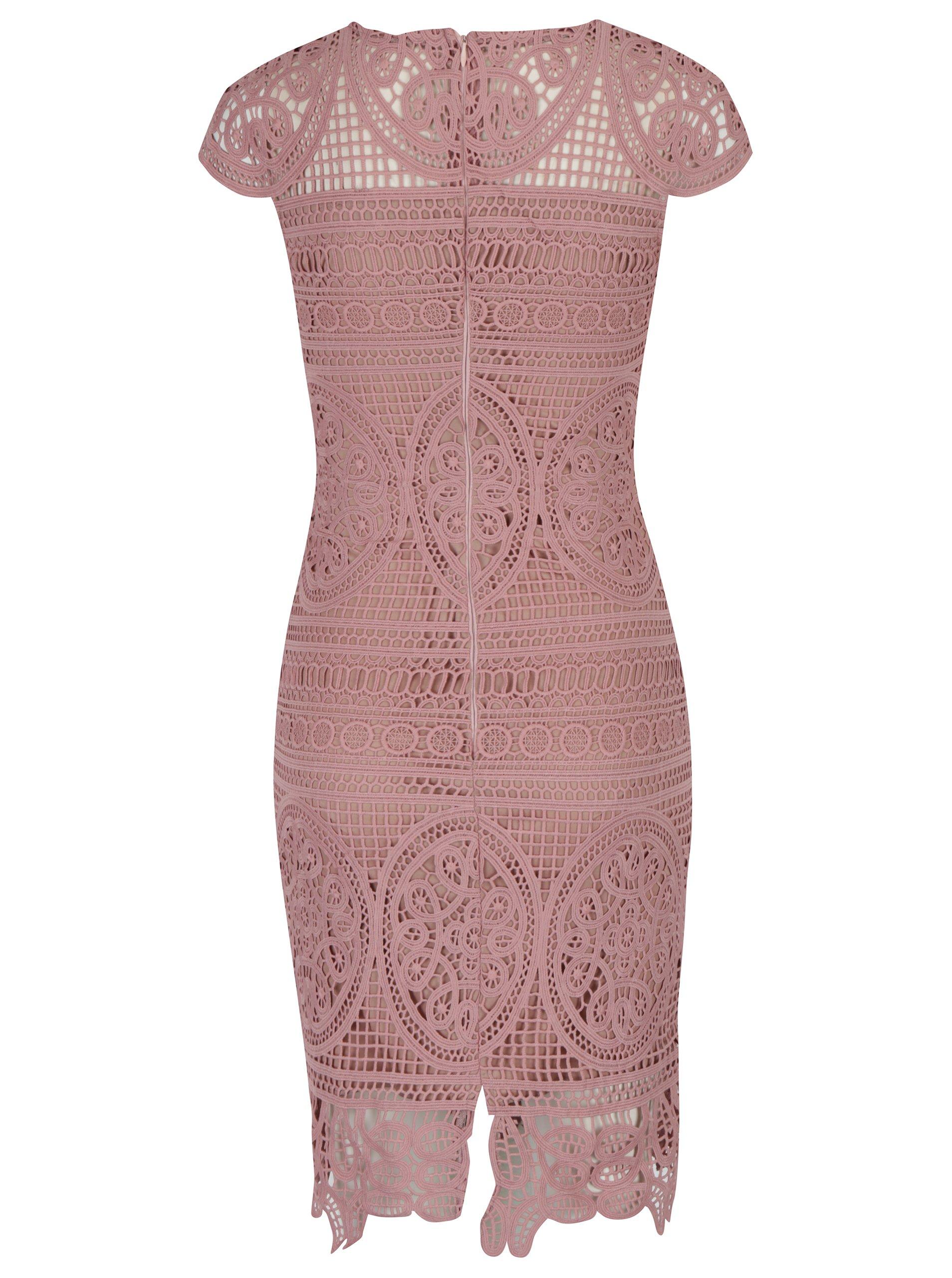 Staroružové čipkované puzdrové šaty Miss Grey Nadia aa620a1c268