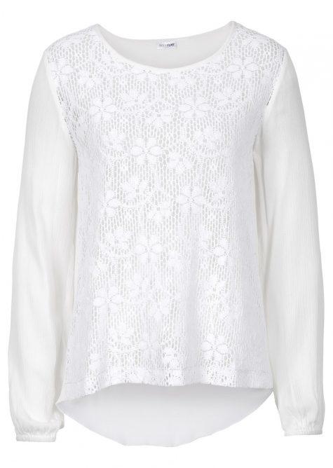 Čipkovaná blúzka z bavlny