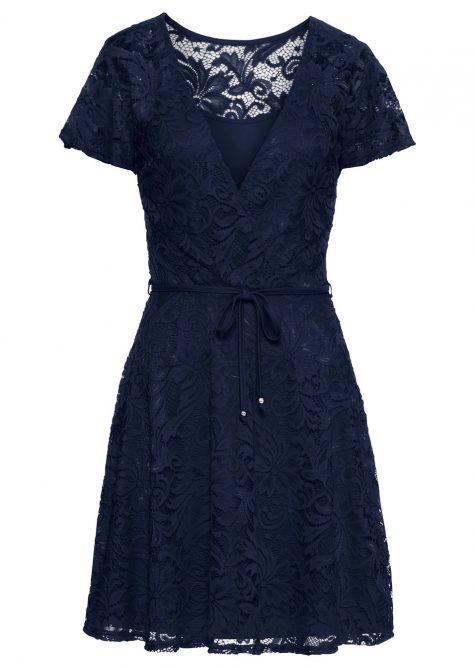 Čipkované šaty s flitrami
