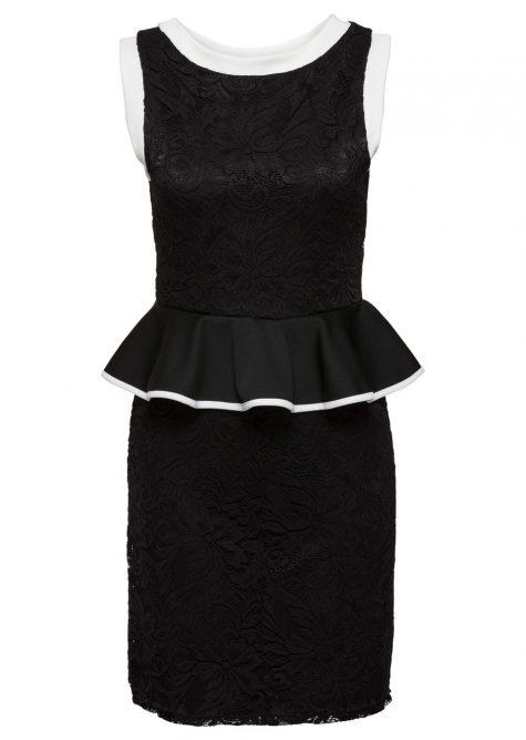 Čipkované šaty s volánom
