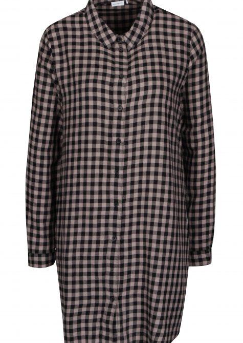 ŽENY | Šaty | šaty na denné nosenie - Ružovo-čierne kockované košeľové šaty Jacqueline de Yong Ally