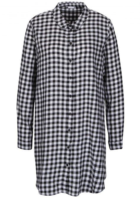 ŽENY | Šaty | šaty na denné nosenie - Bielo-čierne kockované košeľové šaty Jacqueline de Yong Ally
