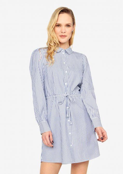 ŽENY | Šaty | šaty na denné nosenie - Bielo-modré pruhované košeľové šaty Jacqueline de Yong Lucky