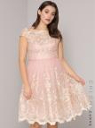 Krátke ružové čipkované šaty pre moeletky