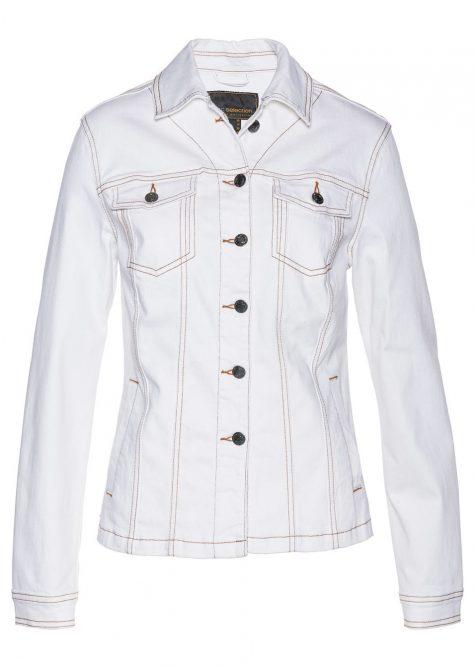 Džínsová bunda s výšivkou