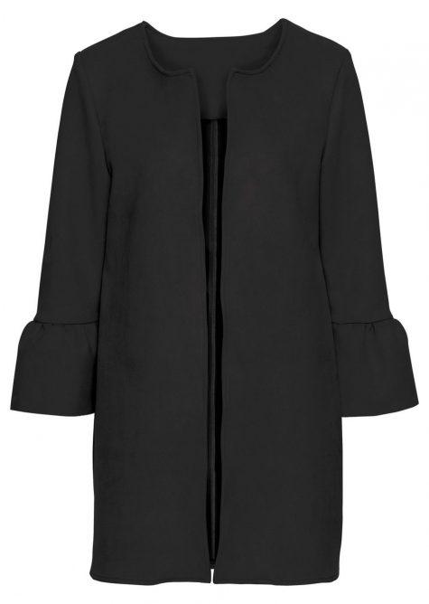 Kabát z velúrovej imitácie