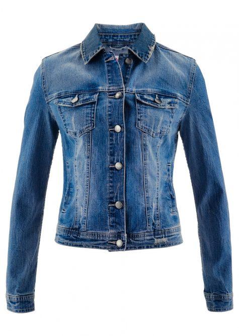 Krátka džínsová bunda - dizajn Maite Kelly