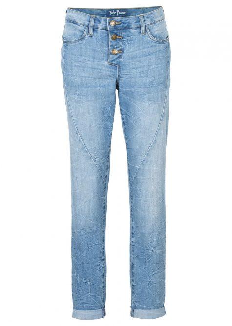 Strečové džínsy BOYFRIEND  Boyfriend džínsy pre moletky - sexi pozadie