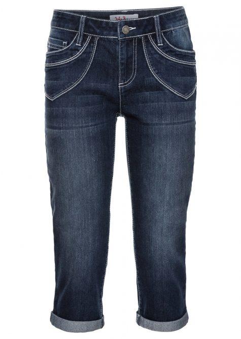Strečové džínsy capri  Strečové nohavice pre moletky - lepšie sa prispôsobia postave.
