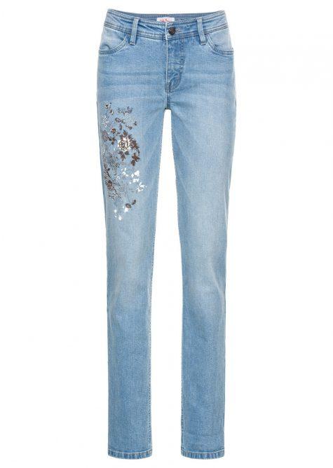 > Strečové džínsy pre moletky