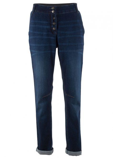Strečové džínsy s vrúbkovaným pásom