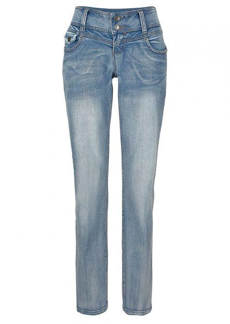 Strečové džínsy SLIM  Strečové nohavice pre moletky - lepšie sa prispôsobia postave.
