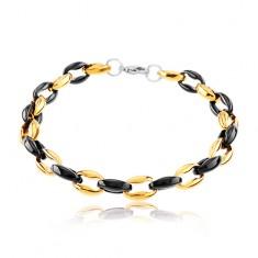 Šperky eshop - Dvojfarebný náramok z chirurgickej ocele