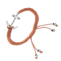 Šperky eshop - Hnedý pletený náramok z motúzikov