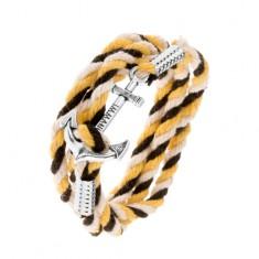 Šperky eshop - Náramok zo šnúrok čiernej