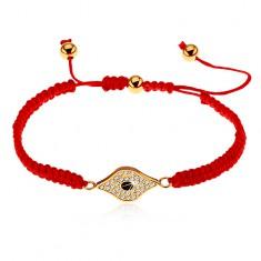 Šperky eshop - Nastaviteľný červený náramok zo šnúrok