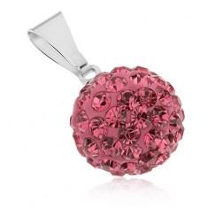 Šperky eshop - Oceľový prívesok Shamballa