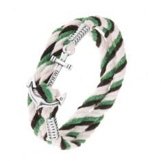 Šperky eshop - Pletený náramok z čiernej