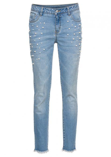 ! Džínsy s perličkami pre moletky