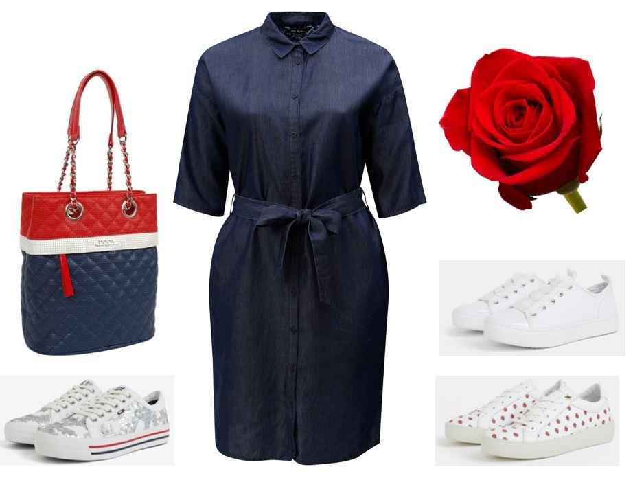 riflove saty pre moletky, dzinsové šaty pre moletky, letné šaty pre moletky, outfity, oblečenie pre plnoštíhle