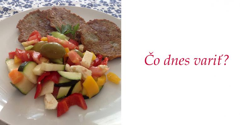 čo dnes variť, zemiakové placky, šopský šalát, balkanský syr, slovenské jedlá