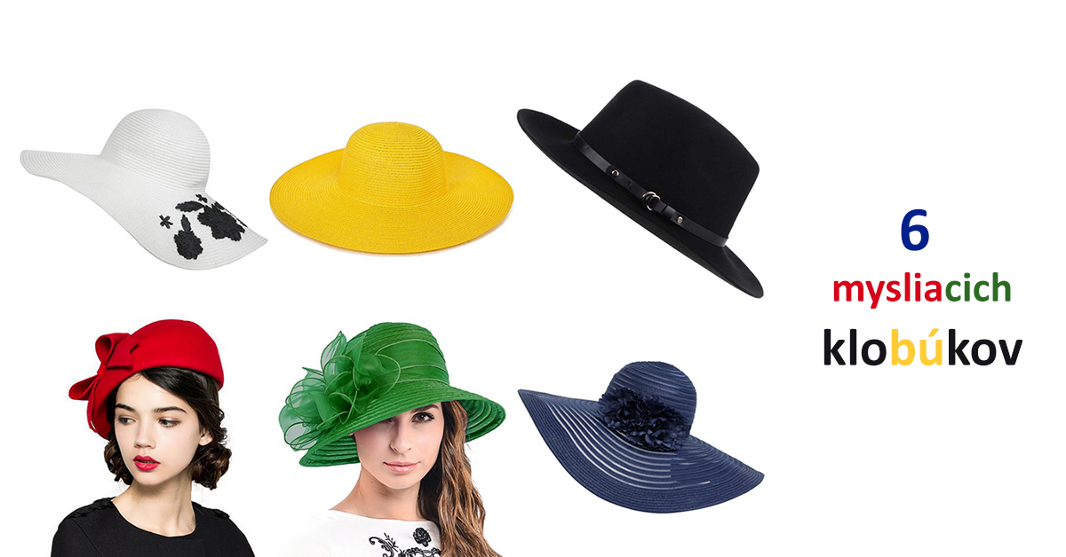 20fdf8885 6 mysliacich klobukov, lateralne myslenie, kocing, kreativita, oblecenie  pre moletky, oblecenie
