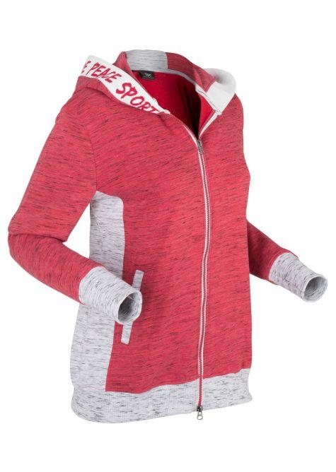 Ľahká mikinová bunda s elastickými detailmi