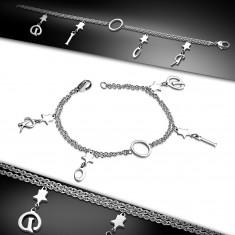 Šperky eshop - Náramok z chirurgickej ocele striebornej farby