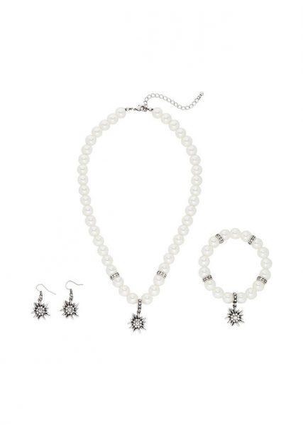 perlový set, perlový náhrdelník, perlový náramok