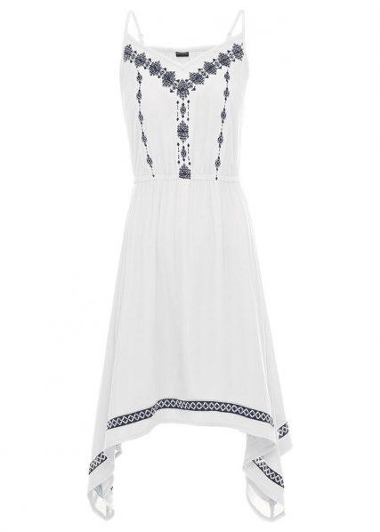 biele šaty na ramienka pre moletky, letné šaty pre moletky, šaty s výšivkou pre moletky