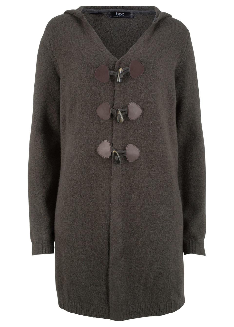 093d1268745d Dlhý pletený sveter s kapucňou