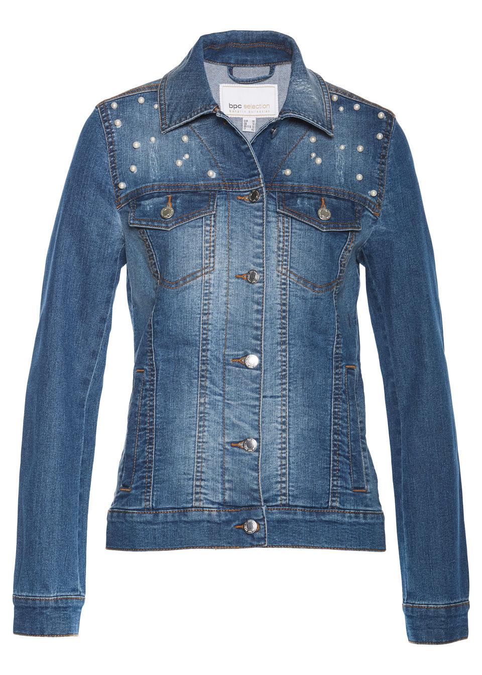 b5ccf4354887 Džínsová bunda s perličkami