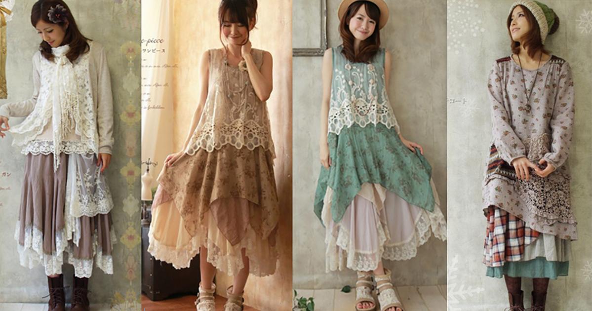 ba4f3b55d9b1 Vrstvené oblečenie - Japonská móda - Mori girl - Inšpirácia z ...