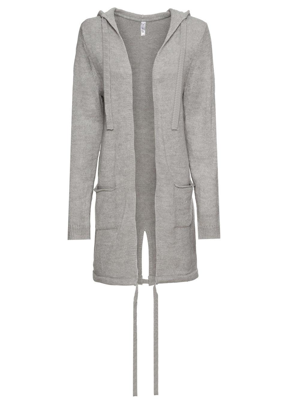 563bb3881056 Pletený sveter s vreckami a kapucňou