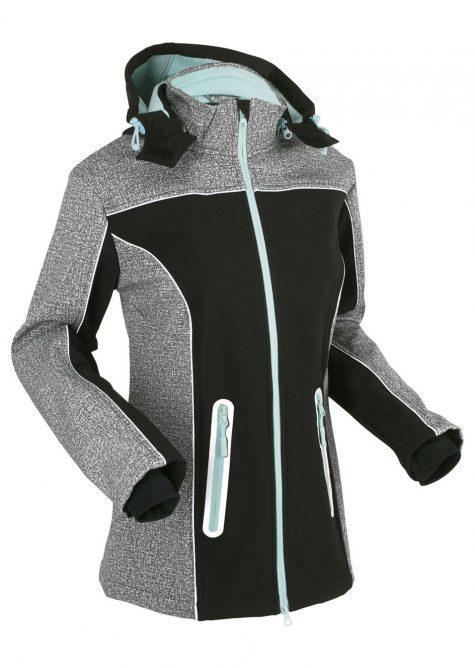 Softshellová bunda s reflexnými detailmi