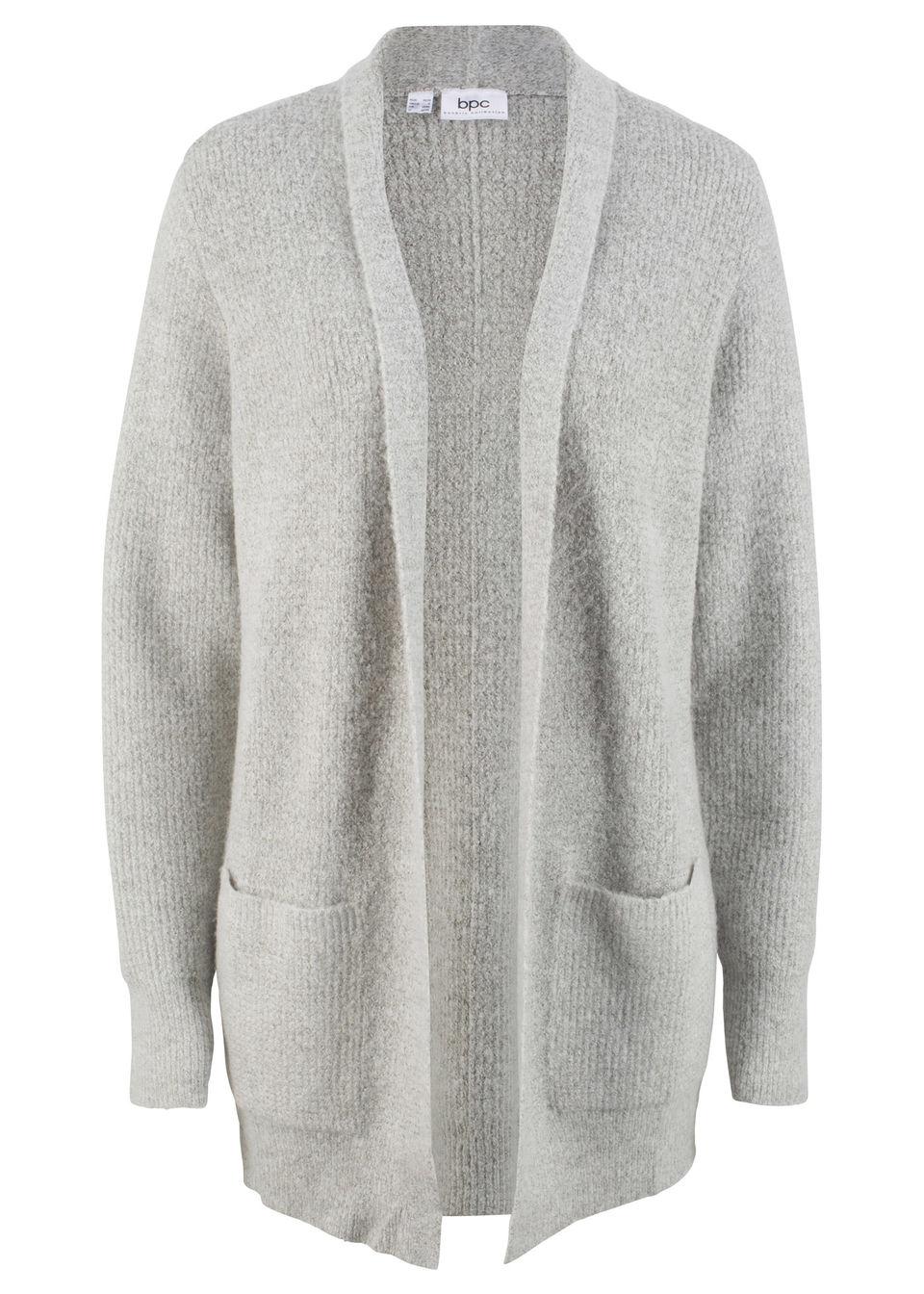 f7ada86a8d26 Pletený sveter so štruktúrou a vreckami