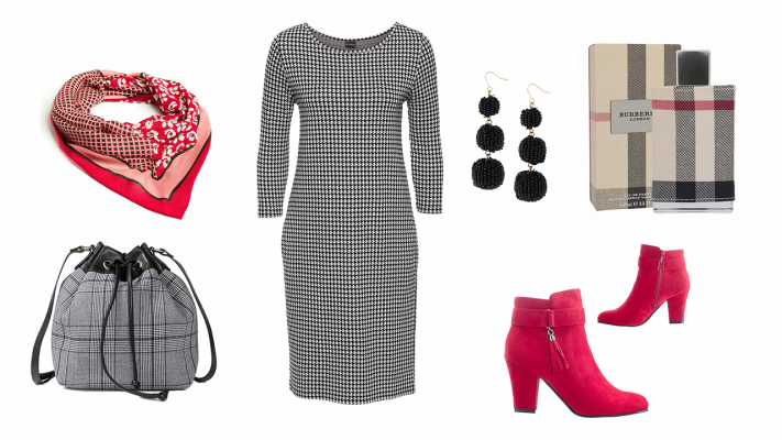 kárované oblečenie pre moletky, pepito šaty pre plnoštíhle, trendy móda pre moletky