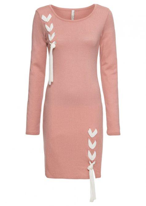 Pletené šaty s mašľou