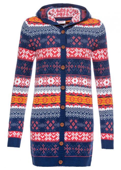 Pletený sveter s nórskym vzorom