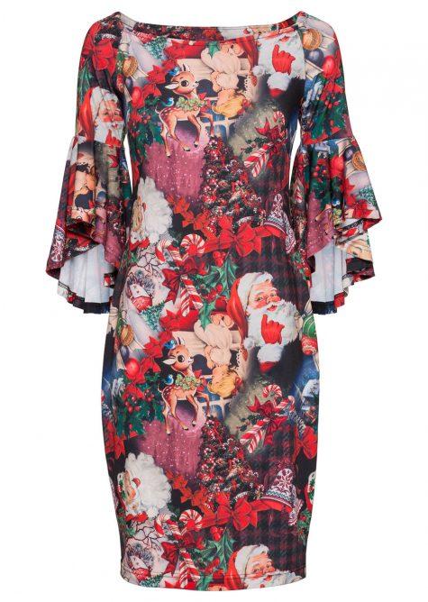 Šaty s vianočným motívom
